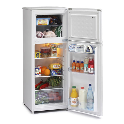 ICEKING WHITE 130CM TALL TOP MOUNT FRIDGE FREEZER - MK Choices CIC