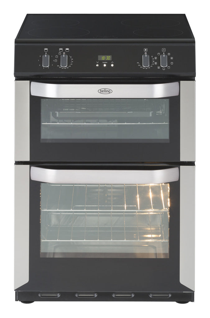 BELLING STAINLESS STEEL MULTIFUNCTION ELECTRIC COOKER WITH DOUBLE OVEN AND  TOUCH CONTROL INDUCTION HOB