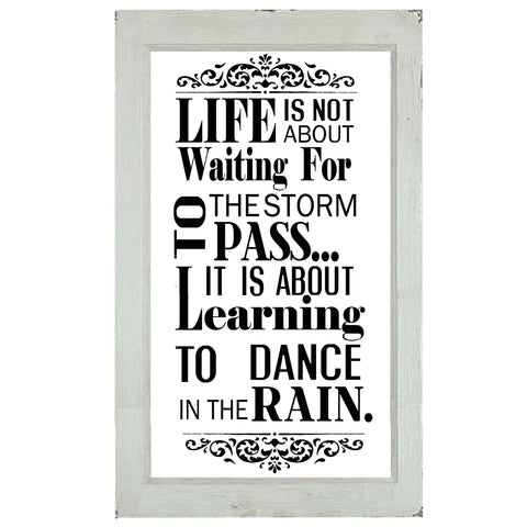 Dance In The Rain Glass Plaque