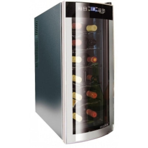 HUSKY REFLECTIONS SLIMLINE WINE COOLER WITH CURVED MIRROR EFFECT DOOR - MK Choices CIC