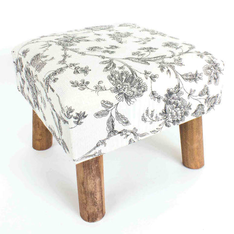 Floral Footstool - MK Choices CIC