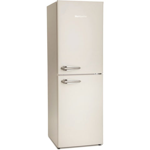 MONTPELLIER CREAM RETRO STYLE 48CM WIDE STATIC FRIDGE FREEZER