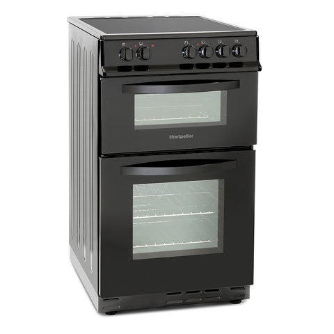 MONTPELLIER 50CM ELECTRIC COOKER WITH DOUBLE OVEN AND CERAMIC HOB - MK Choices CIC