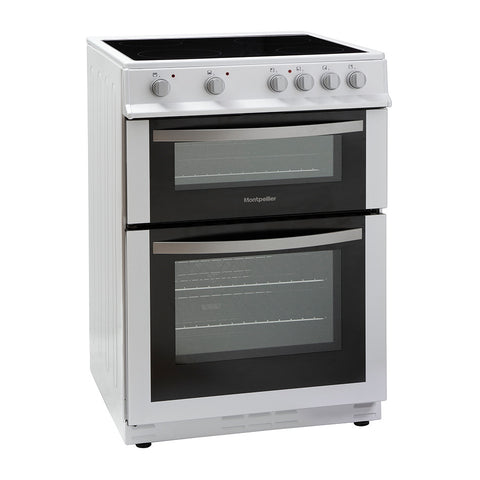 MONTPELLIER 60CM ELECTRIC COOKER WITH DOUBLE OVEN AND CERAMIC HOB - MK Choices CIC
