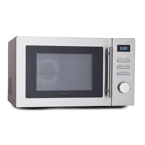 MONTPELLIER STAINLESS STEEL 34 LITRE COMBINATION MICROWAVE - MK Choices CIC