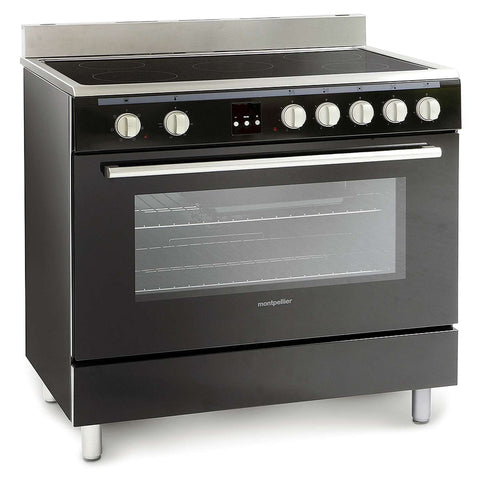 MONTPELLIER ESSENTIAL COLLECTION SINGLE CAVITY 90CM RANGE COOKER WITH CERAMIC HOB - MK Choices CIC