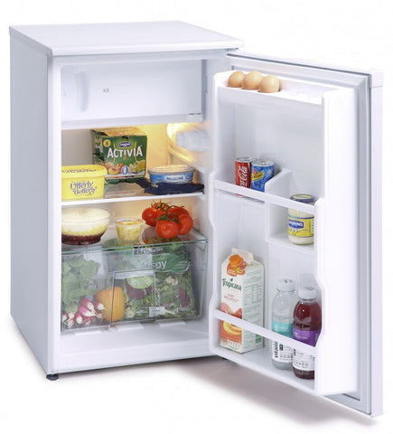 MONTPELLIER WHITE 48CM WIDE UNDER COUNTER FRIDGE WITH 2* ICEBOX - MK Choices CIC