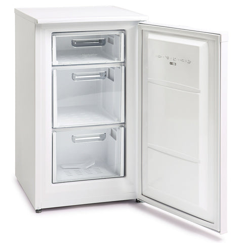 MONTPELLIER WHITE 48CM WIDE UNDER COUNTER FREEZER - MK Choices CIC