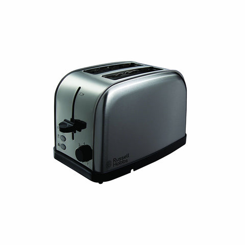 RUSSELL HOBBS FUTURA BRUSHED STEEL 2 SLICE TOASTER - MK Choices CIC