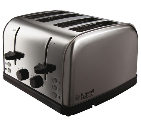 RUSSELL HOBBS FUTURA STAINLESS STEEL 4 SLICE TOASTER - MK Choices CIC