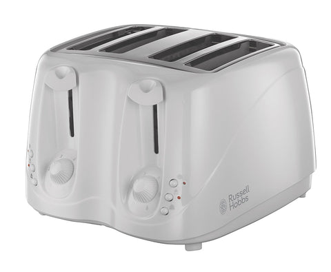 RUSSELL HOBBS WHITE TEXTURES 4 SLICE TOASTER - MK Choices CIC