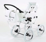 Baby Fashion Scarlett Retro 2 in 1 Pram - White Wicker