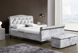 Isabella Crushed Velvet Sleigh Bed