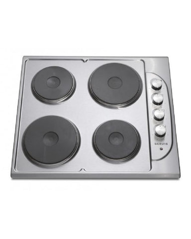 SERVIS STAINLESS STEEL 60CM SOLID PLATE HOB