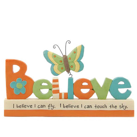 Believe Butterfly Plaque