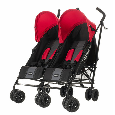 Apollo Twin Pram - Red