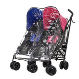 Apollo Twin Pram - Blue & Pink