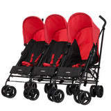 Obaby Mercury Triple Stroller - Red