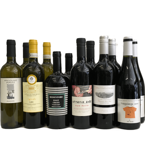 No Sulphites Added Case of 12 Organic Wines (Mixed) - Wine Sulphites - Sulphite Free Wines