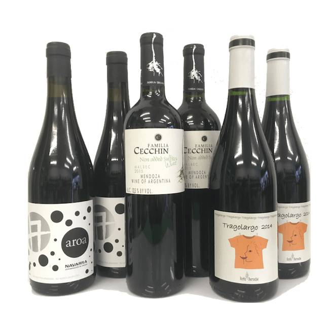 Strictly No Added Sulphites Wine Club Case of 6 Red Wines - Wine Sulphites - Sulphite Free Wines
