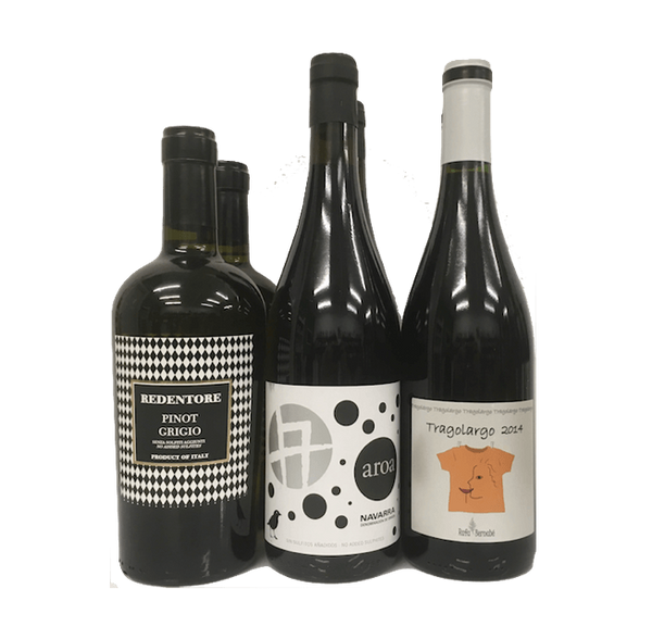 Lowest Natural Level Sulphites Case of 6 Organic Wines (Mixed) - Wine Sulphites - Sulphite Free Wines