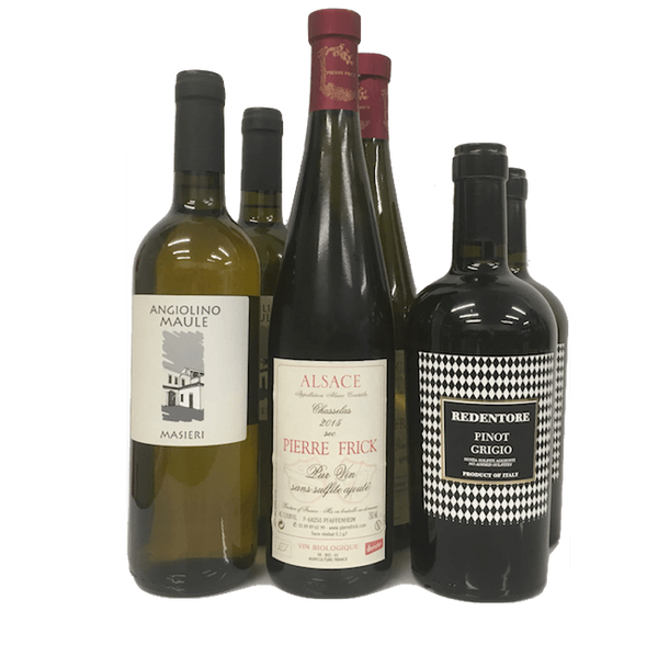 Strictly No Sulphites Added Wine Club Case of 6 Organic White Wines - Organic Wine Club