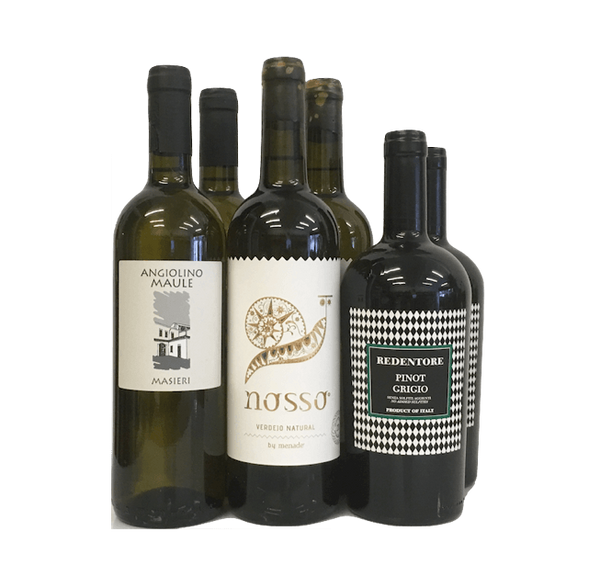 Lowest Natural Level Sulphites Case of 6 Organic Wines (White) - Wine Sulphites - Sulphite Free Wines