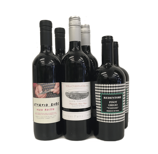 No Sulphites Added Case of 6 Organic Wines (Mixed, Bestsellers) - Wine Sulphites - Sulphite Free Wines