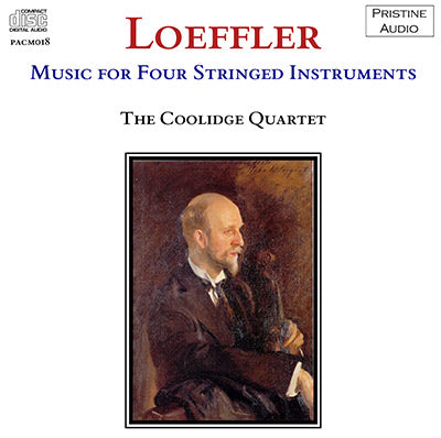 COOLIDGE QUARTET Loeffler: Music For Four Stringed Instruments (1938) - PACM017