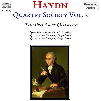 HAYDN QUARTET SOCIETY Volume 5 (1935) - PACM019