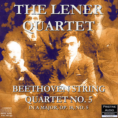 LÉNER QUARTET Beethoven: String Quartet No. 5 (1936) - PACM049