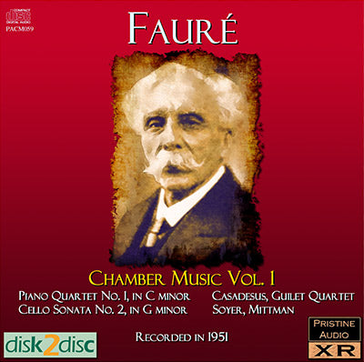FAURÉ Chamber Music (1951-55) - PABX019