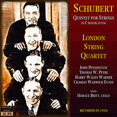 LONDON QUINTET Schubert: String Quintet in C (1928) - PACM071
