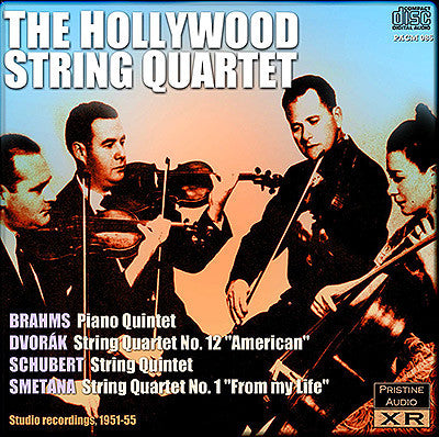 HOLLYWOOD QUARTET plays Brahms, Dvořák, Schubert & Smetana (1950-55) - PACM085