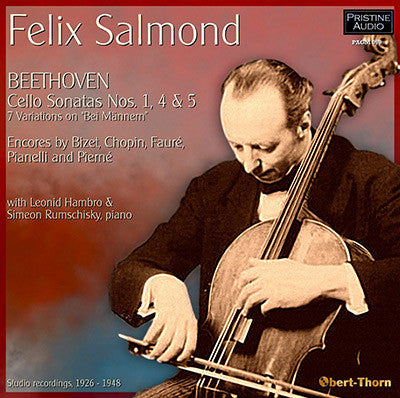 SALMOND plays Beethoven Cello Sonatas 1, 4 & 5 (1926-48) - PACM099