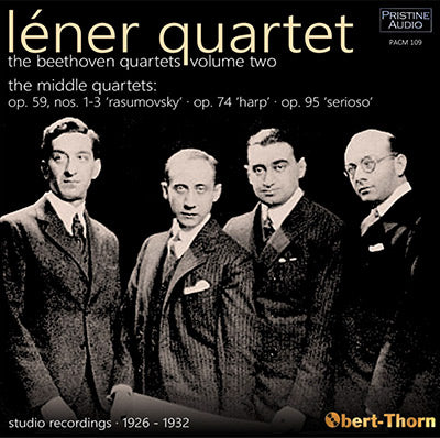 LÉNER QUARTET The Beethoven Quartets Vol. 2: The Middle Quartets (1926-32) - PACM109