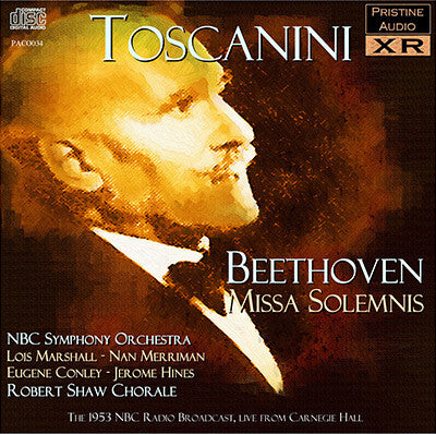 TOSCANINI Beethoven: Missa Solemnis (1953, live) - PACO034