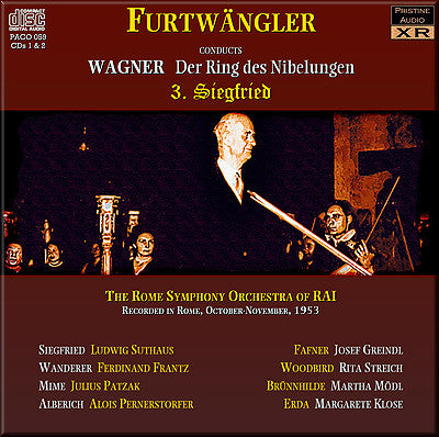 FURTWÄNGLER Wagner Ring Cycle: 3. Siegfried (1953, Rome) - PACO059