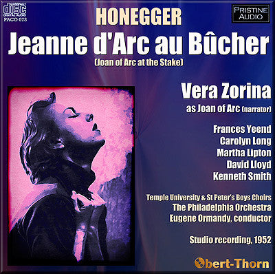ORMANDY Honegger: Jeanne D'Arc au Bûcher (1952) - PACO073