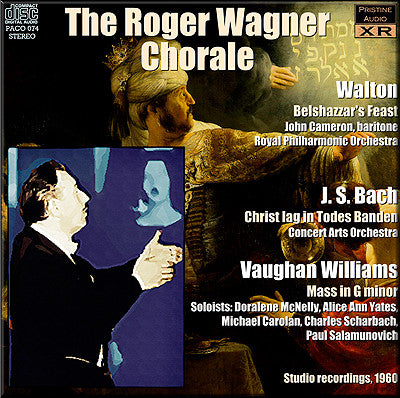 ROGER WAGNER CHORALE Walton, Bach, Vaughan Williams (1960) - PACO074