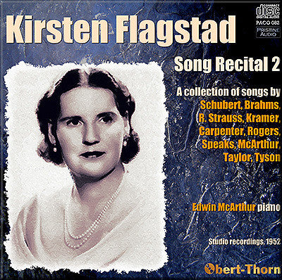 FLAGSTAD Song Recital 2 - Schubert, Brahms, R. Strauss, US composers (1952) - PACO082