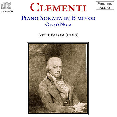 BALSAM Clementi: Piano Sonata in B minor (1953) - PAKM006