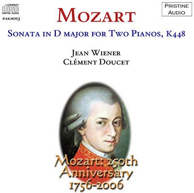 WIENER & DOUCET Mozart: Sonata in D major for Two Pianos (1937) - PAKM013