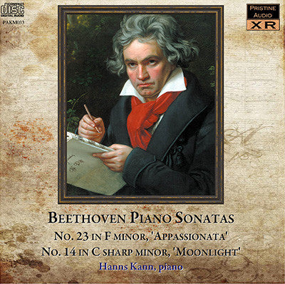 KANN Beethoven: Appassionata and Moonlight Sonatas (1952) - PAKM033