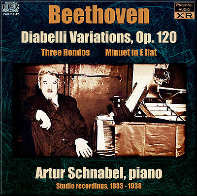 SCHNABEL Beethoven: Diabelli Variations, Rondos, Minuet (1933-38) - PAKM047