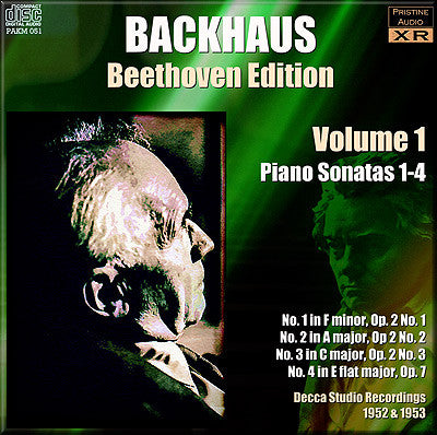BACKHAUS Beethoven: Complete Piano Sonatas, Vol. 1 (1952/53) - PAKM051