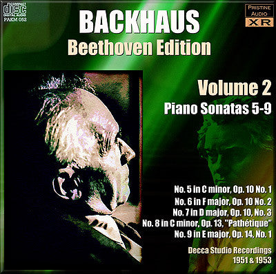 BACKHAUS Beethoven: Complete Piano Sonatas, Vol. 2 (1952/53) - PAKM052