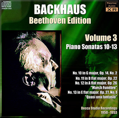 BACKHAUS Beethoven: Complete Piano Sonatas, Vol. 3 (1950-53) - PAKM053