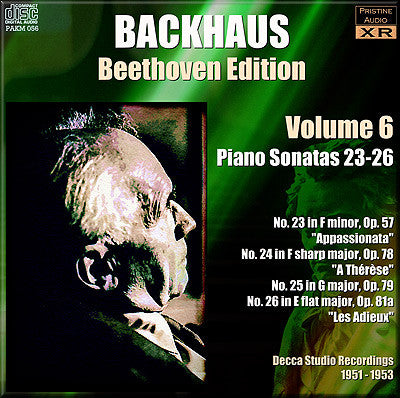 BACKHAUS Beethoven: Complete Piano Sonatas, Vol. 6 (1951-53) - PAKM056