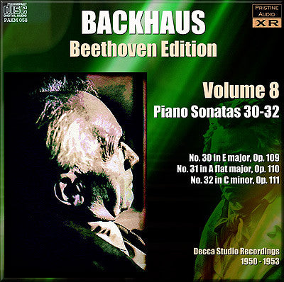 BACKHAUS Beethoven: Complete Piano Sonatas, Vol. 8 (1950/53) - PAKM058
